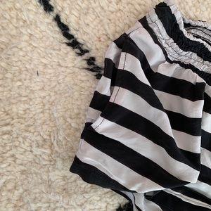 Mikoh Shorts - Gray and Black Striped Mikoh Beach Shorts